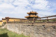 Arquitectura del monasterio en Mongolia Fotografía de archivo
