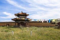 Arquitectura del monasterio en Mongolia Imagenes de archivo