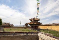 Arquitectura del monasterio en Mongolia Foto de archivo