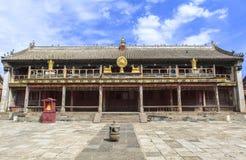 Arquitectura del monasterio en Mongolia Imagen de archivo libre de regalías
