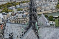 Arquitectura del Notre-Dame de Paris fotos de archivo
