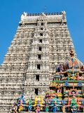 Arquitectura del templo de Annamalaiyar en Tiruvannamalai, la India Imagenes de archivo