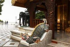 Arquitectura del templo en Chiang Mai foto de archivo
