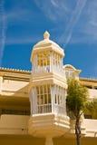 Arquitectura del viejo estilo en Málaga Foto de archivo libre de regalías