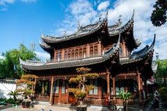 Arquitectura en el parque de Shangai Yuyuan, Shangai, China del chino tradicional Foto de archivo libre de regalías