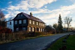 Arquitectura en el parque nacional bohemio de Suiza en República Checa Fotografía de archivo libre de regalías