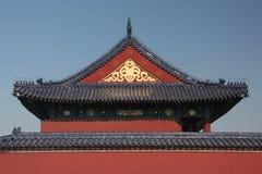 Arquitectura en el Templo del Cielo en Pekín Foto de archivo