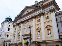 Arquitectura en la ciudad vieja de Varsovia Imagen de archivo
