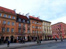 Arquitectura en la ciudad vieja de Varsovia Imagenes de archivo