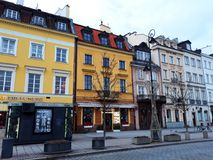 Arquitectura en la ciudad vieja de Varsovia Imagen de archivo libre de regalías