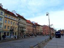 Arquitectura en la ciudad vieja de Varsovia Fotografía de archivo