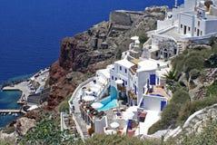 Arquitectura en la isla de Santorini, Grecia Imagen de archivo libre de regalías