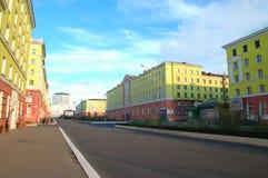 Arquitectura en Norilsk (Rusia) Fotos de archivo