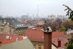 Arquitectura en Zagreb, Croacia fotografía de archivo