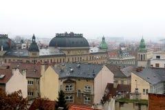 Arquitectura en Zagreb, Croacia foto de archivo