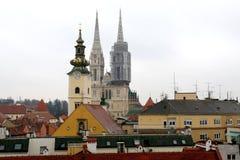 Arquitectura en Zagreb, Croacia fotos de archivo libres de regalías