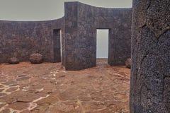 Arquitectura famosa en la isla de Lanzarote en el Oc?ano Atl?ntico foto de archivo