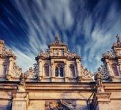 Arquitectura fuera de la iglesia Añejo retro Imagenes de archivo