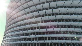 Arquitectura futura Edificio futurista Edificio moderno Concepto futuro ilustración del vector