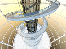 Arquitectura futurista Fotografía de archivo libre de regalías