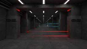 arquitectura futurista 3d Imágenes de archivo libres de regalías