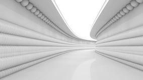arquitectura futurista 3d Foto de archivo libre de regalías