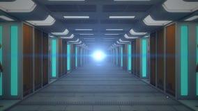 Arquitectura futurista del fondo almacen de metraje de vídeo