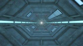 Arquitectura futurista del pasillo Fotografía de archivo libre de regalías