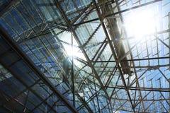 Arquitectura, futurista, moderna, vidrio Foto de archivo