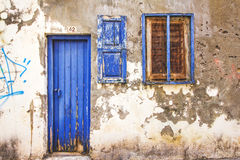 9 9 2016 - Arquitectura genérica en la ciudad vieja de Rethymno Fotos de archivo