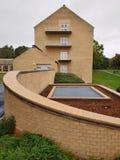 Arquitectura geométrica, universidad de Aarhus fotografía de archivo