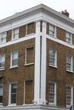 Arquitectura georgiana en una casa de la pared, Londres, Reino Unido de las ventanas Foto de archivo libre de regalías