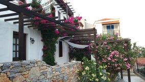Arquitectura griega tradicional de las islas foto de archivo libre de regalías