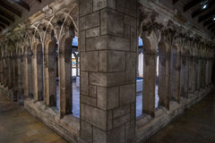 Arquitectura gótica del castillo Fotografía de archivo