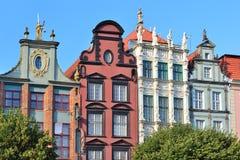 Arquitectura hermosa de Gdansk Foto de archivo libre de regalías