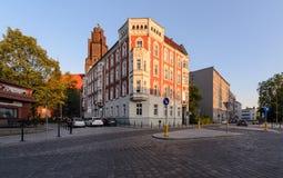 Arquitectura hermosa de la ciudad en la parte central de Gliwice Imágenes de archivo libres de regalías