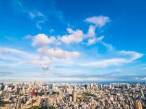 Arquitectura hermosa y edificio alrededor de la ciudad de Tokio con Tokio imagen de archivo