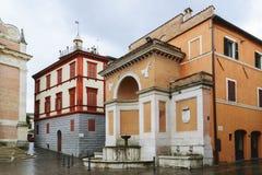 Arquitectura histórica en Fabriano Foto de archivo libre de regalías