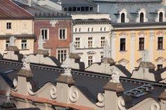 Arquitectura histórica en la ciudad vieja de Kraków Imagen de archivo libre de regalías