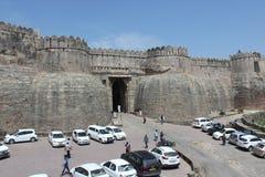 arquitectura histórica, puerta de la entrada, fuerte kumbhal del garh Fotos de archivo libres de regalías