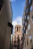 Arquitectura histórica y moderna en Barcelona fotografía de archivo libre de regalías