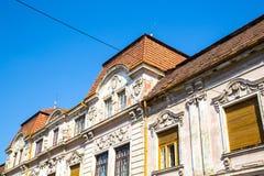 Arquitectura histórica en Oradea Foto de archivo