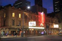 Arquitectura histrical Australia del teatro de la majestad de Melbourne Foto de archivo