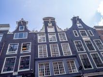 Arquitectura holandesa tradicional, Leidsestraat, Amsterdam fotografía de archivo