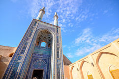 Arquitectura imponente de la mezquita de Jameh imágenes de archivo libres de regalías