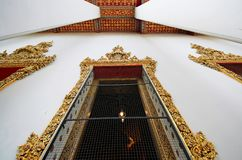 Arquitectura importante de ventana en Wat Pho foto de archivo libre de regalías