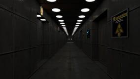 Arquitectura interior moderna del scifi stock de ilustración