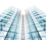Arquitectura moderna de la construcción representación 3d Imagen de archivo libre de regalías