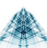 Arquitectura moderna de la construcción representación 3d ilustración del vector