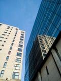 Arquitectura moderna de los edificios en Cardiff, País de Gales, Reino Unido Foto de archivo